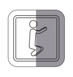figure person doing squats icon vector image vector image