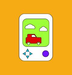 Flat icon design collection portable game vector