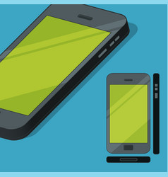 flat style mobile phone concept vector image vector image