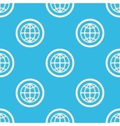 Globe sign blue pattern vector
