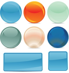 glossy icons vector image