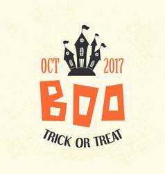 Halloween emblem template logo badge vector