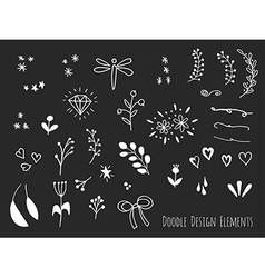Hand drawn isolated doodle design elements vector image vector image