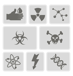 monochrome set with science icons vector image