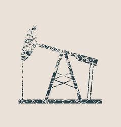 Oil pump grunge icon vector