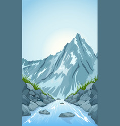 River in the mountains vector
