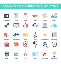 Seo and development vector