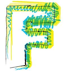 Sketch font Letter F vector image