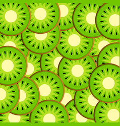 slices of kiwi vector image vector image
