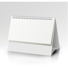 Spiral calendar template vertical table vector