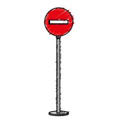 Traffic signal barricade stop vector