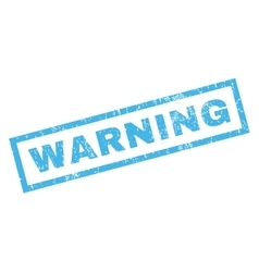 Warning rubber stamp vector