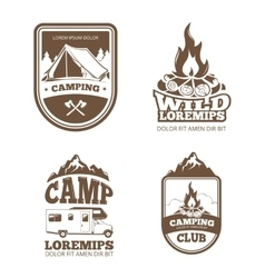 Wilderness and nature exploration vintage vector