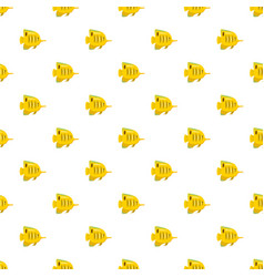 Yellow fish pattern vector