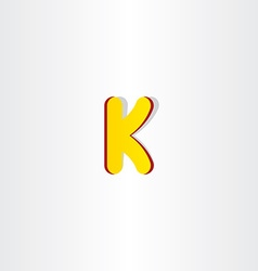 yellow letter k logo symbol vector image vector image