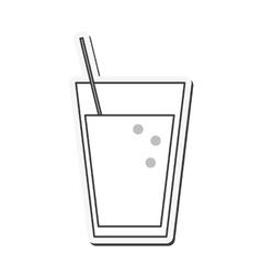 Juice glass drink design vector