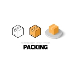 Packing icon in different style vector image
