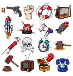 Comics decorative elements set vector