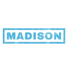 Madison rubber stamp vector