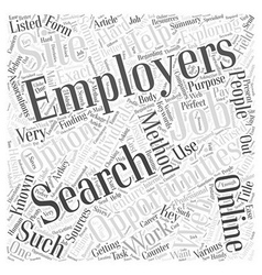 Employment opportunities by tom husnik word cloud vector
