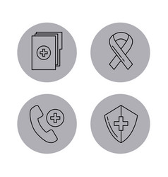 Round icon health vector