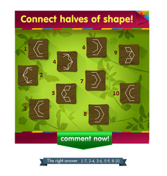 Shape game for children vector