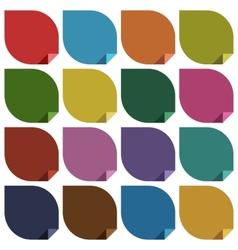 16 retro colored blank stickers vector image vector image