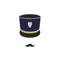 France police officer in hat policeman avatar vector