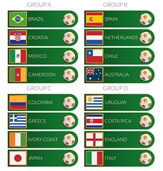 Brazil soccer cup 2014 tags vector