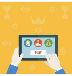 Gamification concept of business vector image