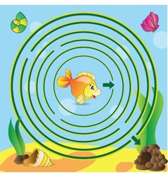 Maze game for kids vector