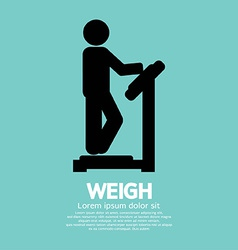Weigh graphic symbol vector