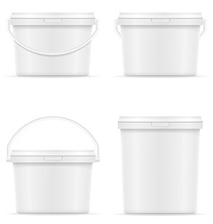Plastic bucket for paint 08 vector
