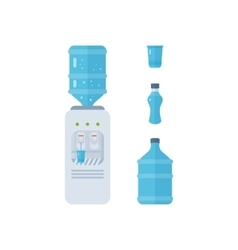 Water cooler bottle office plastic and liquid vector