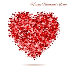 Valentines day vintage red heart vector image