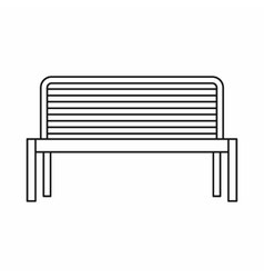 Bench icon outline style vector