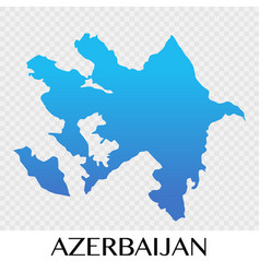Azerbaijan map in asia continent design vector