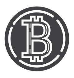 Bitcoin coin glyph icon business and finance vector