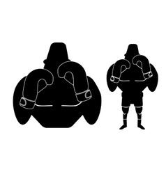 Boxer logo big-small shadows vector
