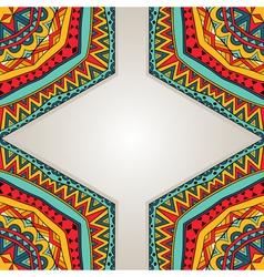 Bright ethnic frame vector