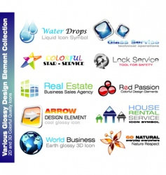business design elements vector image vector image