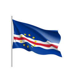 Cape verde realistic flag vector