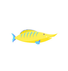 Children drawing of a fish vector