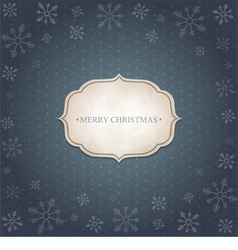 Christmas vintage background vector image vector image