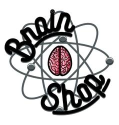 Color vintage scientific shops emblem vector
