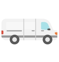 Commercial delivery truck vector image