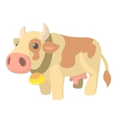 Cow icon cartoon style vector