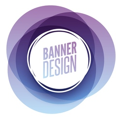 Creative circle round overlay banner with place vector