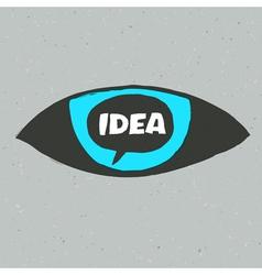 Eye idea poster vector