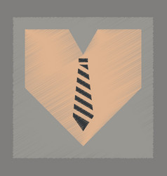 Flat shading style icon heart tie vector